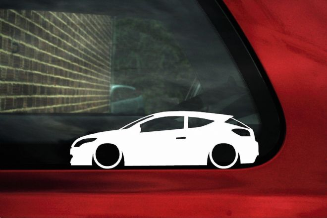 2x Low car outline stickers - Renault megane RS sport Mk3
